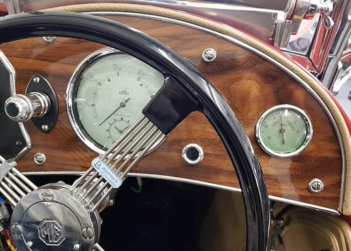 1947 MG TC Dashboard