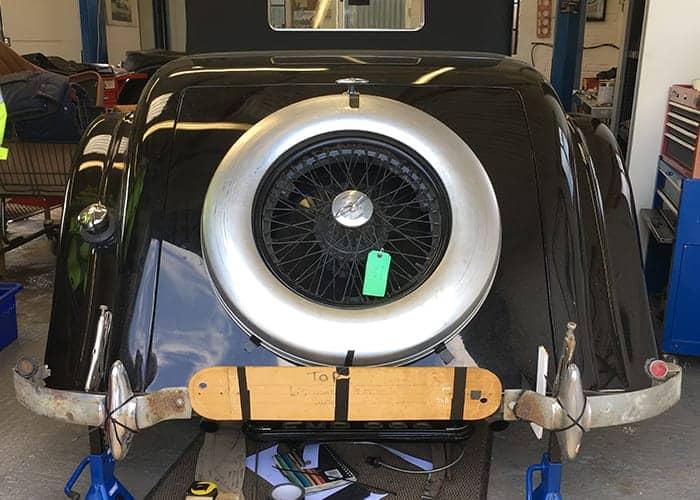 ALVIS 4.3 Spare wheel holder