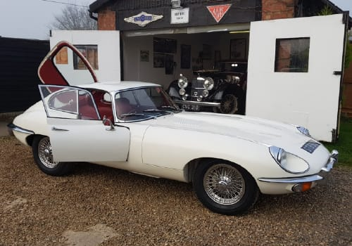 White Jaguar E-Type