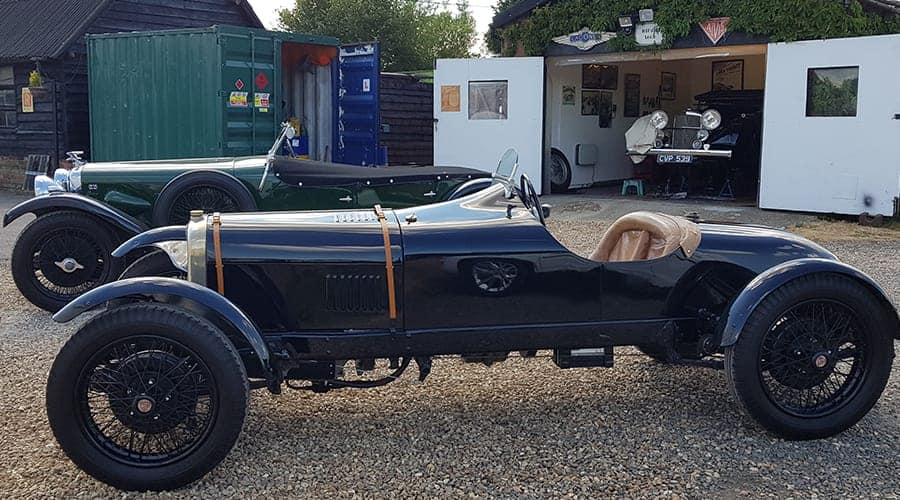 Alvis 12-50 RR Jackson Brooklands special in garage