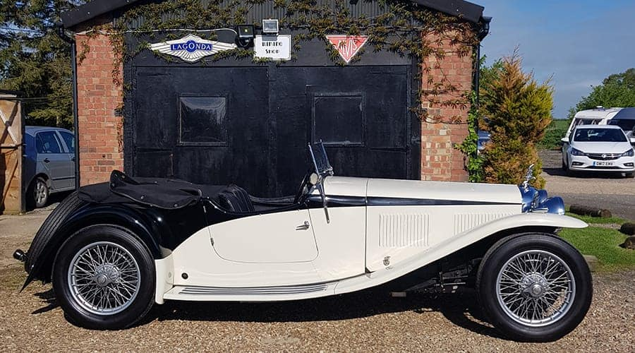 Black and white Alvis Speed 20 SA