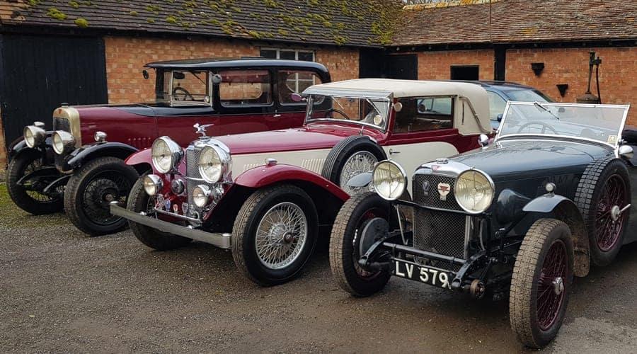 3 Alvis cars