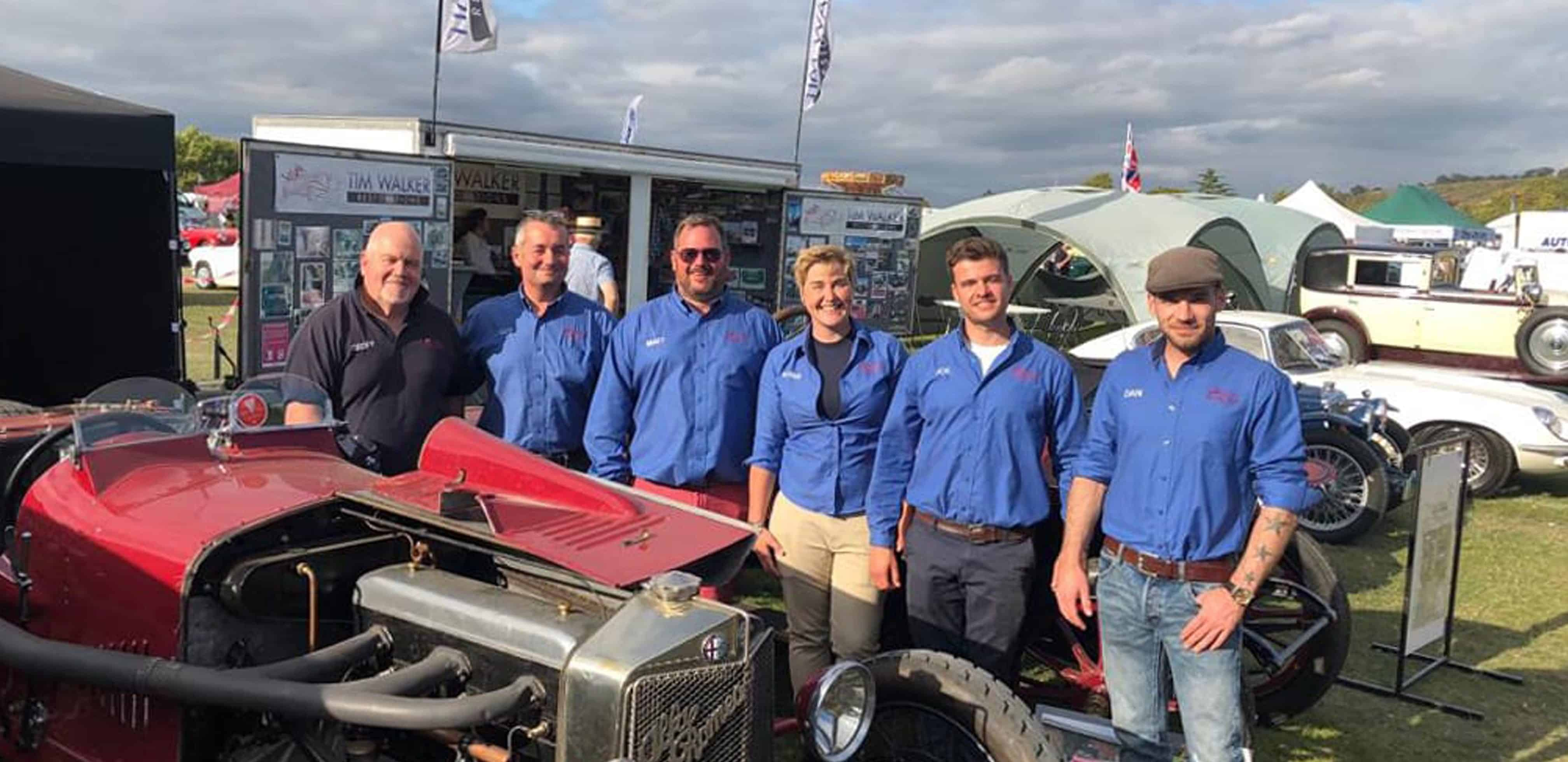 Tim Walker Restorations team at Kop Hill Climb