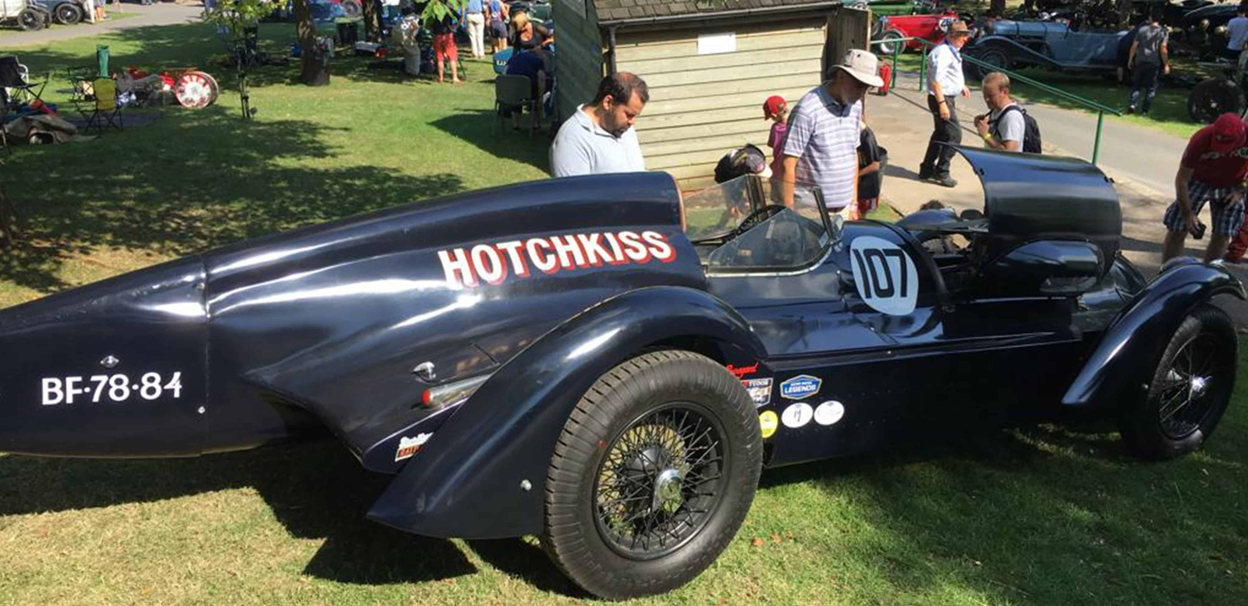 Prescott Hotchkiss car about to race