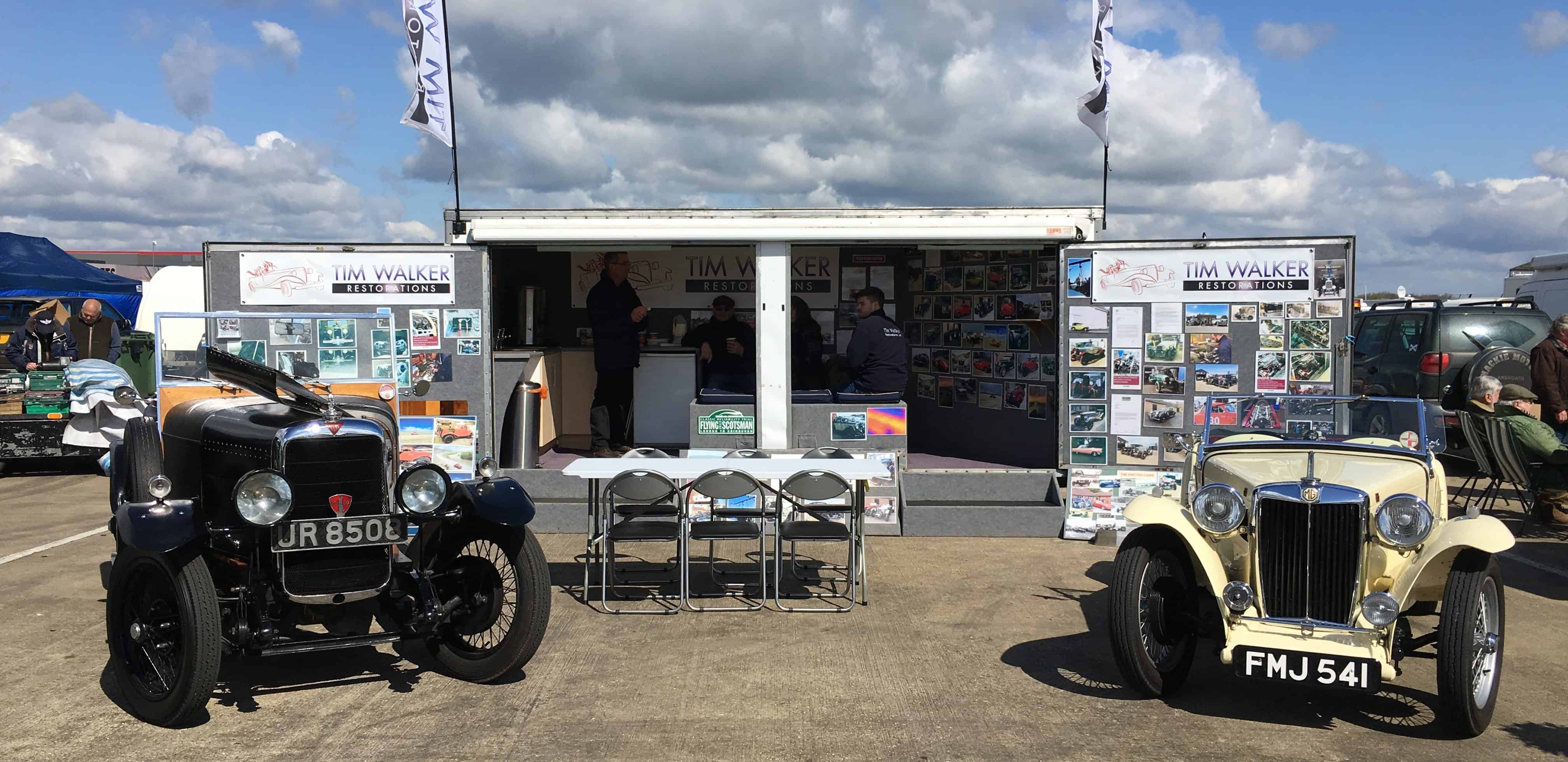 Silverstone Tim Walker Restorations team stand