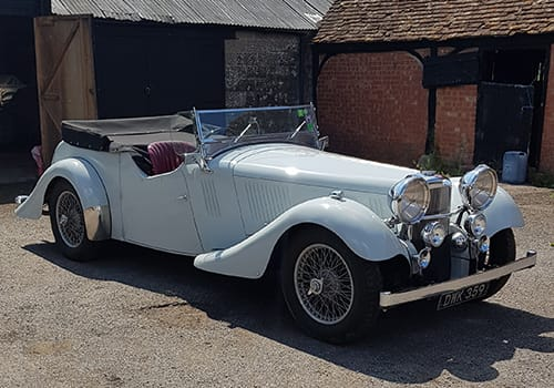 White Alvis Speed 25, Chris Crouch