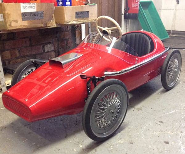 Red Vanwell refurbished Pedal car