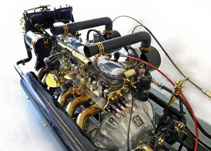 Geylce's restored with gold plated Rolls Royce engine