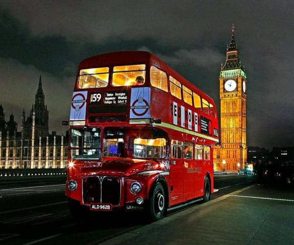 London double decker red bus, Houses of Parliament