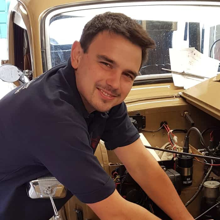 Peter Yates vintage car technician